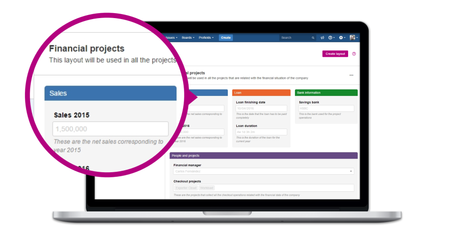setting budgets for projects in Jira with profields