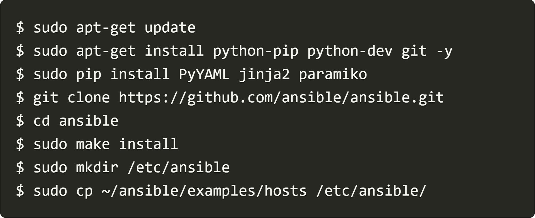Debian install PyYaml jinja2 paramiko
