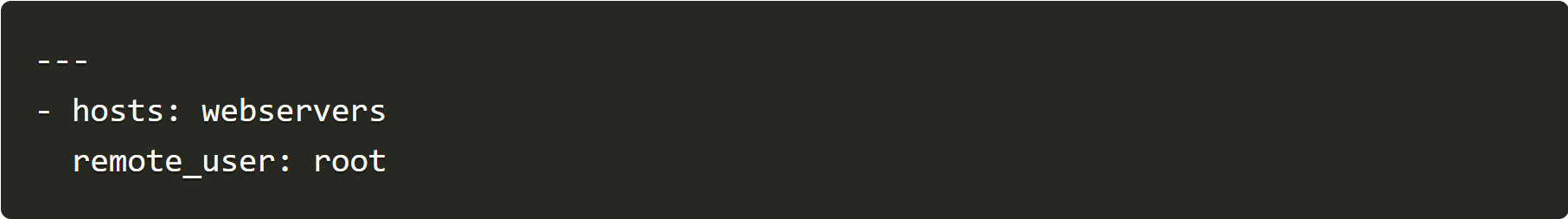 hosts webservers remote_user root