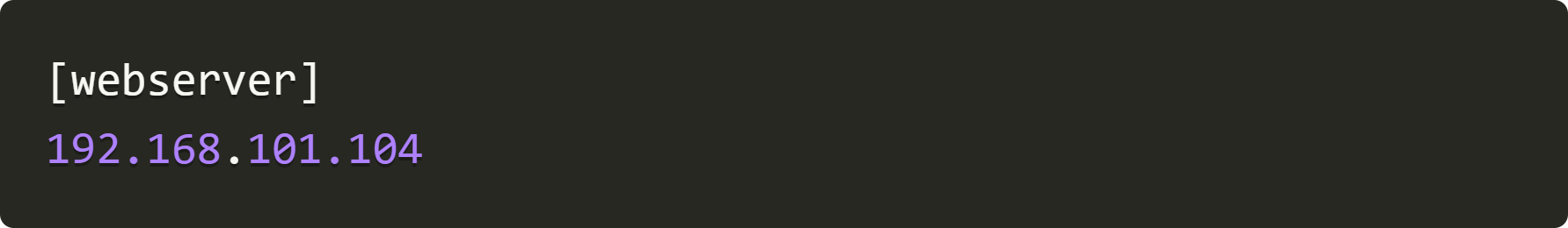 webserver addresss
