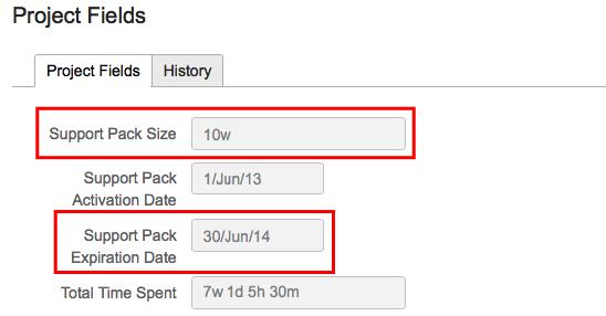 En los campos de projecto podemos configurar la duración y tamaño del proyecto