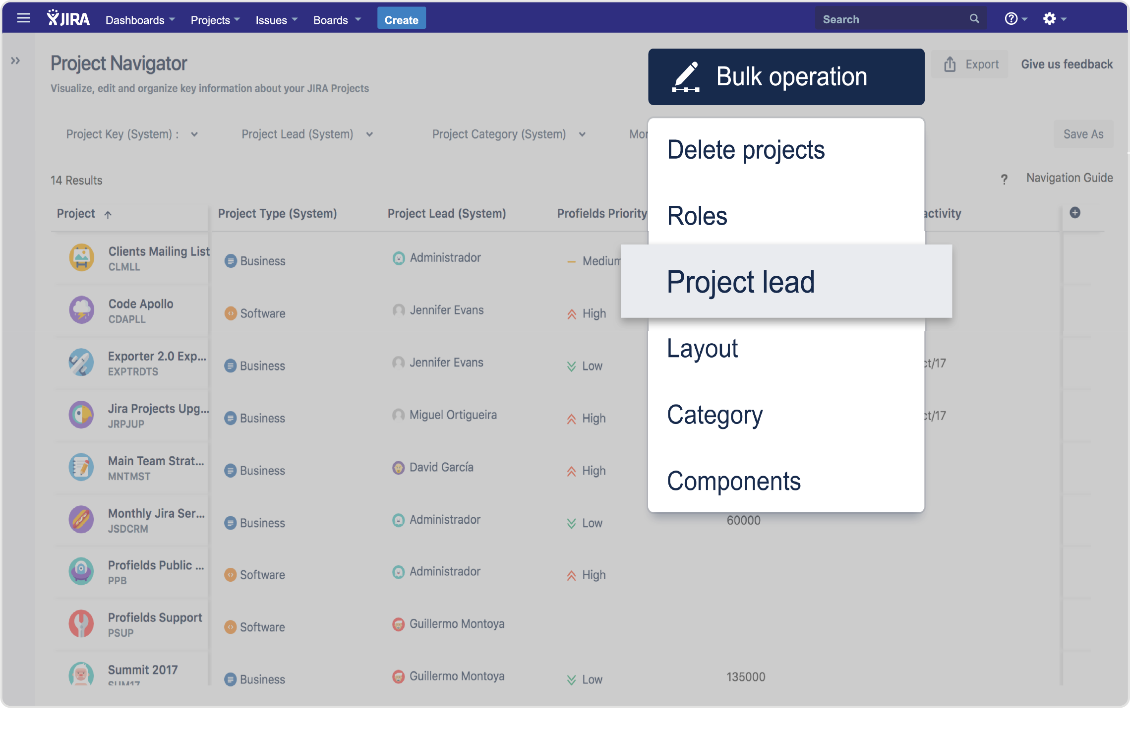 Profields | Jira App | Bulk Operations for Jira Projects