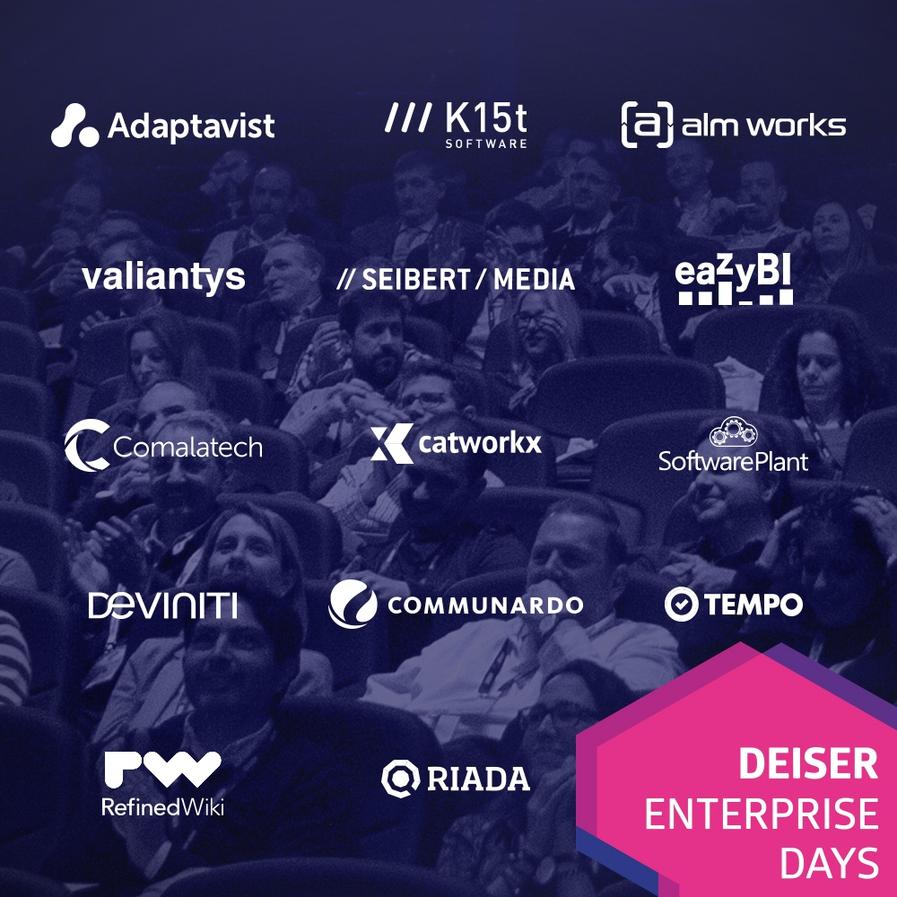 Atlassian Marketplace Apps Vendors que vendrán a los DEISER Entrprise Days 2018