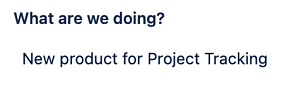 A Profields, project field for Jira to communicate more information about the project