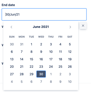 A Profields, project field for Jira to determine the projects' end date