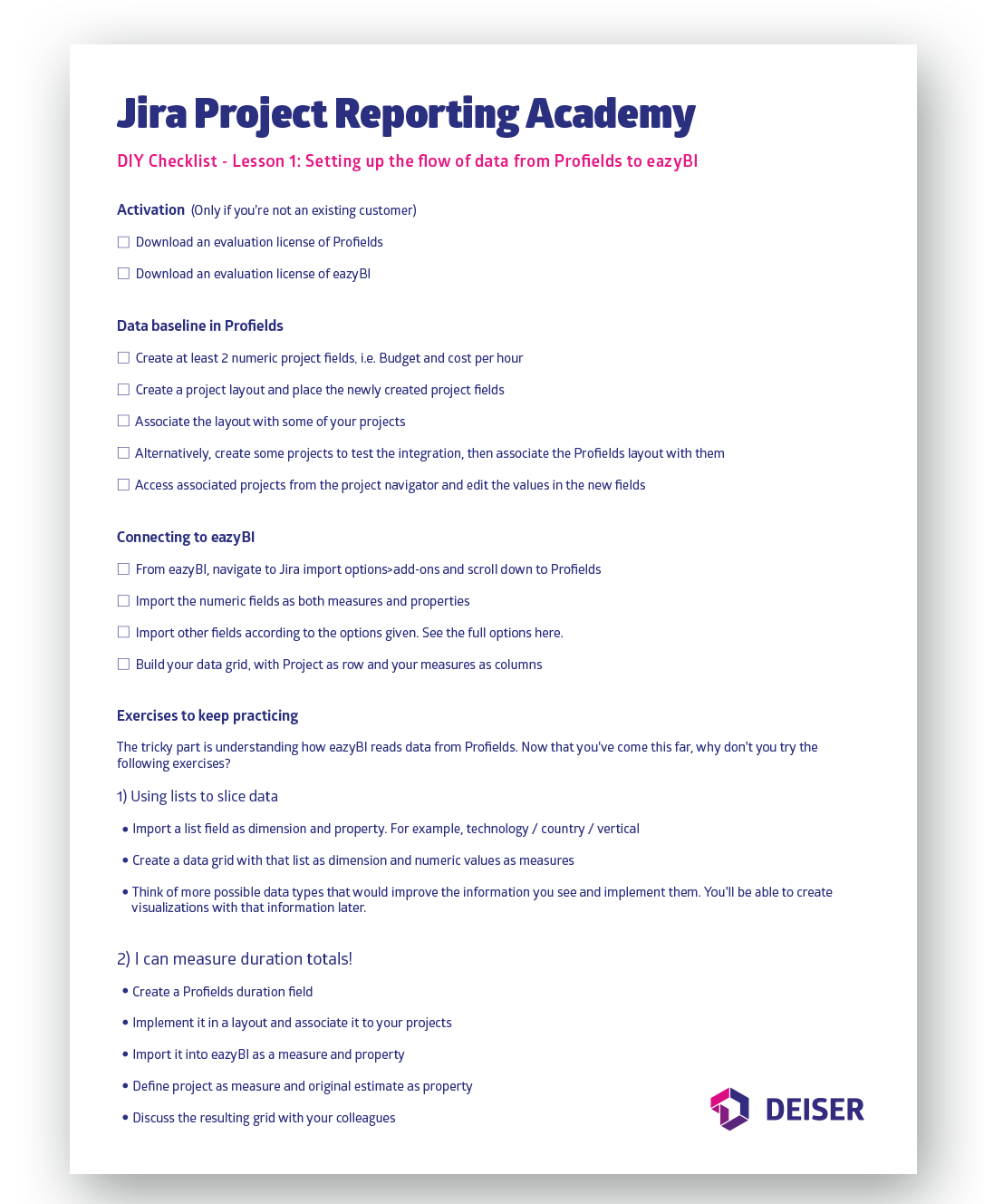 The Jira Project Reporting Academy