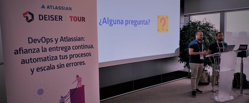Carlos Fernández y David García explican cómo implementamos DevOps en DEISER con las herramientas Atlassian.