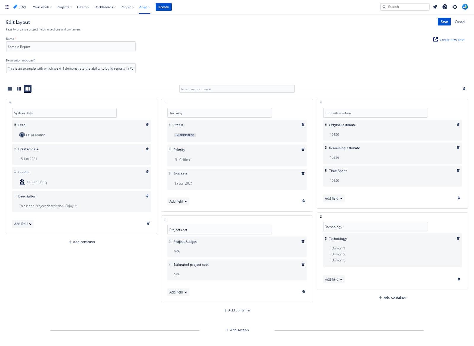 Los Layouts de Projectrak te permiten organizar y estandarizar tus proyectos en Jira para todos los usuarios