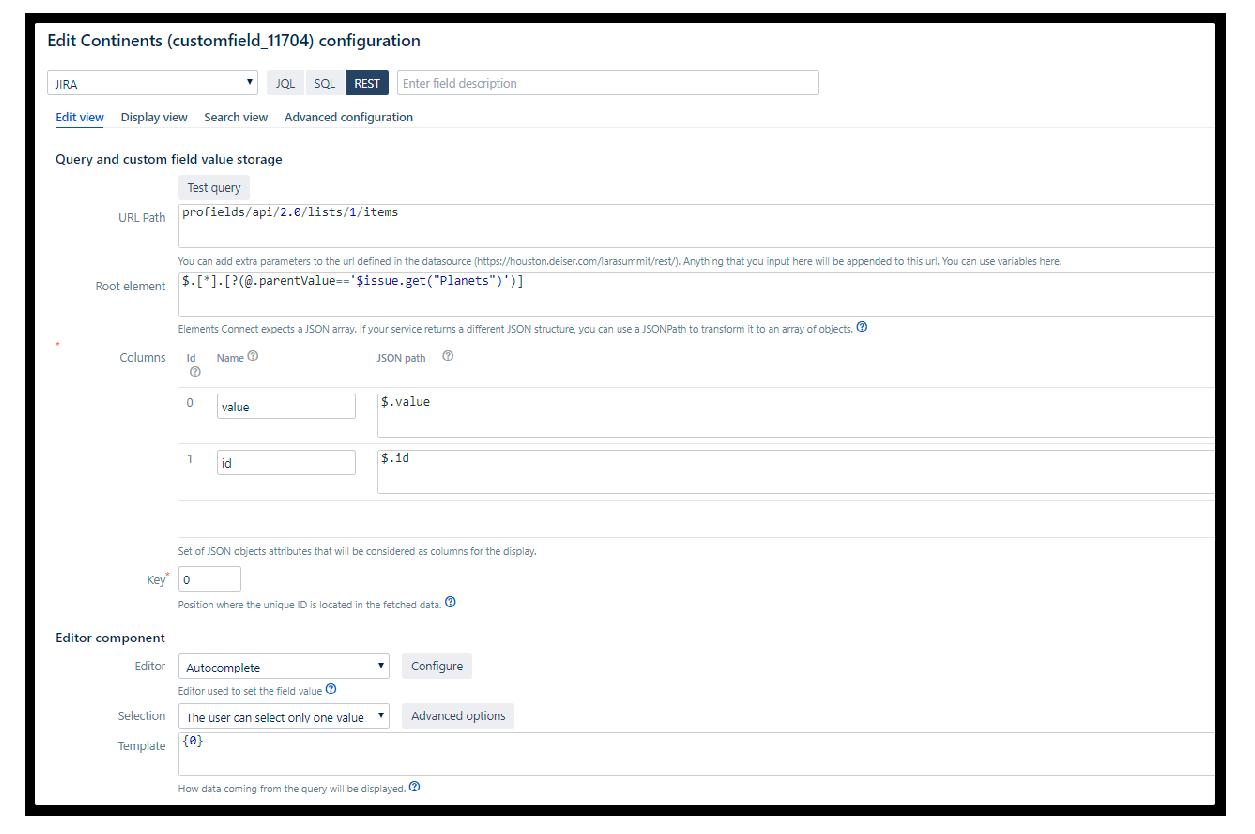 Como configurar la lógica con Elements Connect y projectrak en Jira service Management