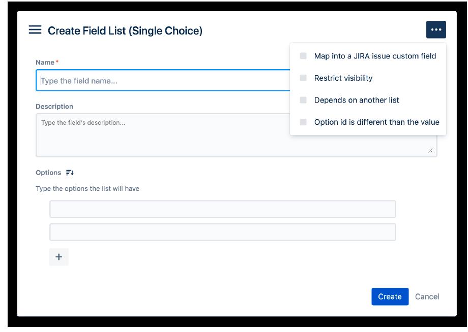 como crear un campo de proyecto de seleccion unica con Projectrak para Jira Service Management paso 1