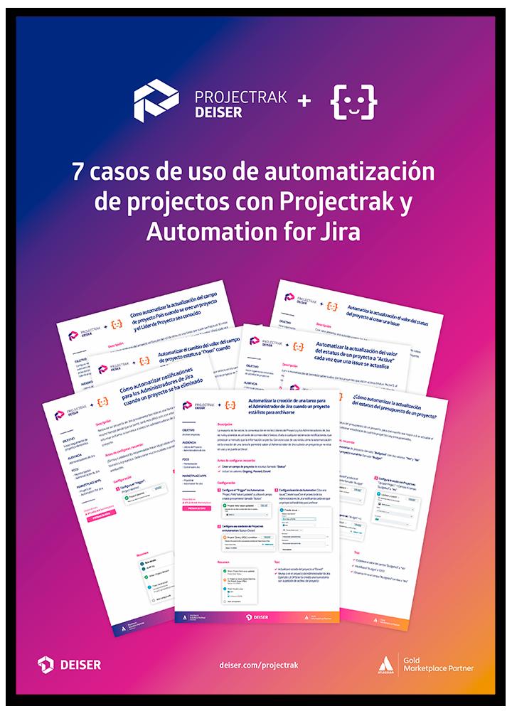 Descarga el Ebook con siete casos de uso de Automation y Projectrak para Jira