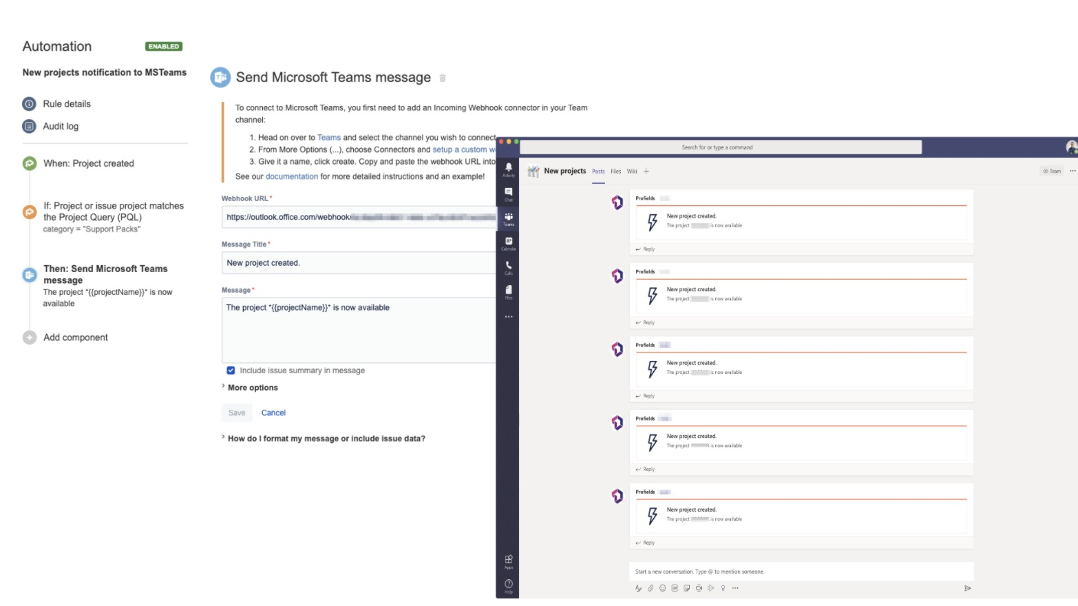 How to automate project notifications from Jira to Microsoft Teams