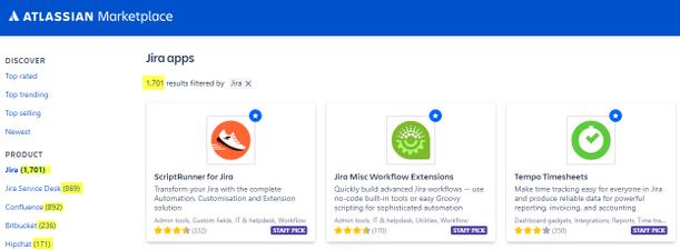 El Marketplace de Atlassian tiene una amplia gama de apps con funcionalidades geniales para las herramientas Atlassian.