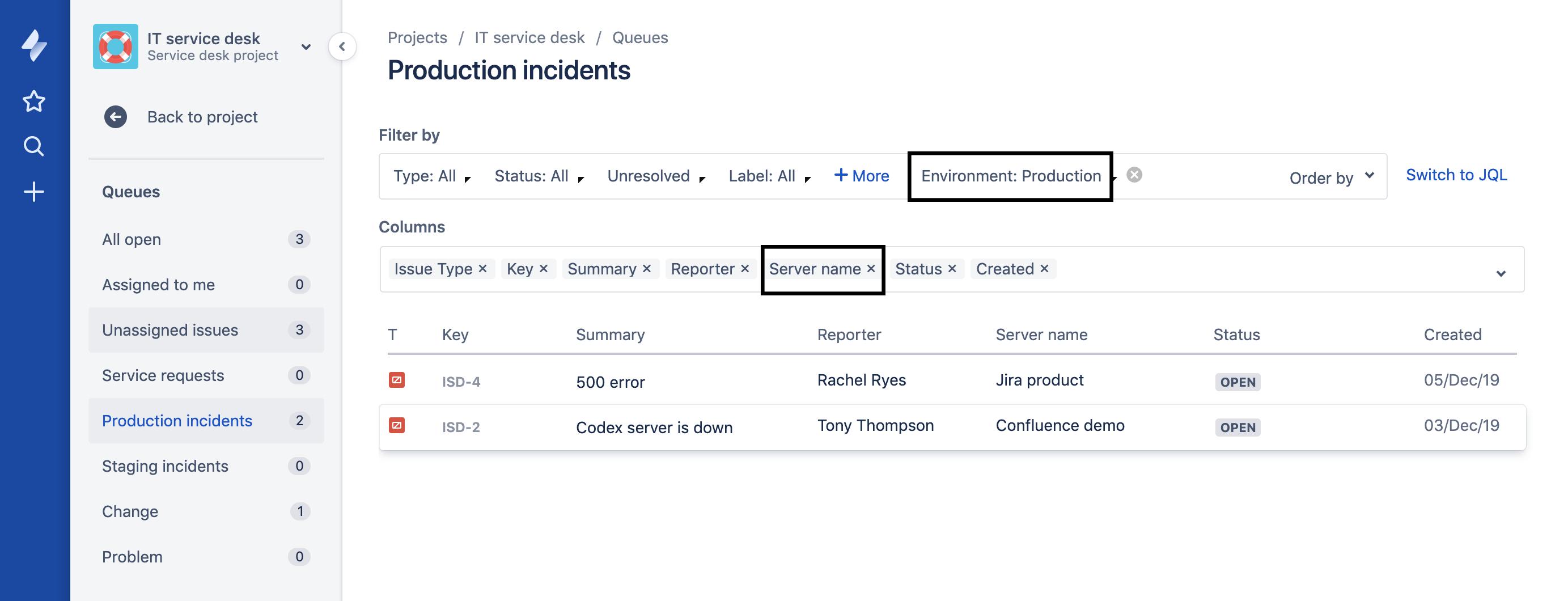 Crea distintas colas para distintos tipos de incidencias en Jira Service Desk Cloud con Elements Connect
