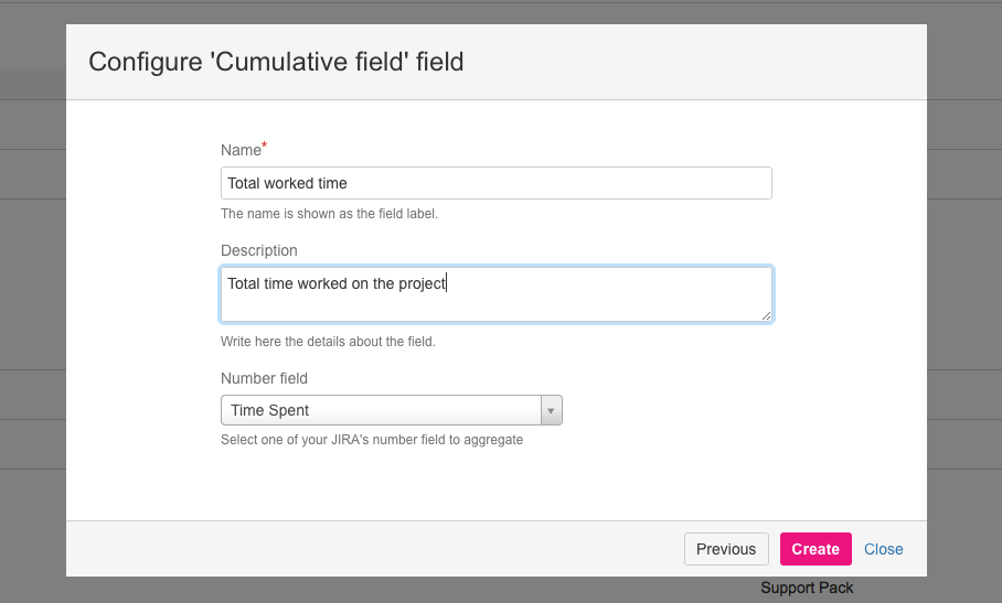 Configuring cumulative fields at project level in Jira with profields