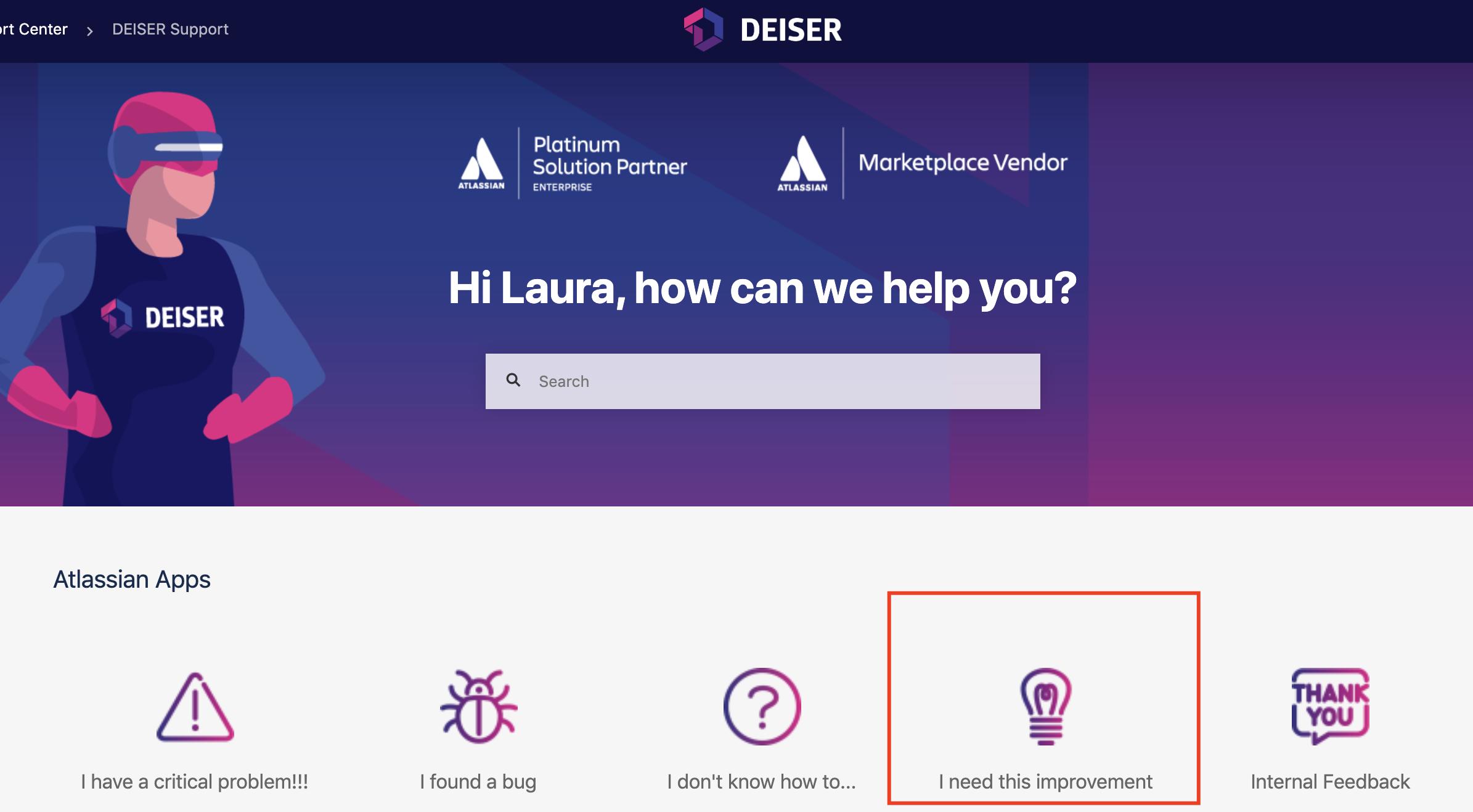 DEISER-support-portal