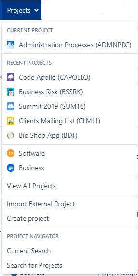 How to access to Jira's project central?