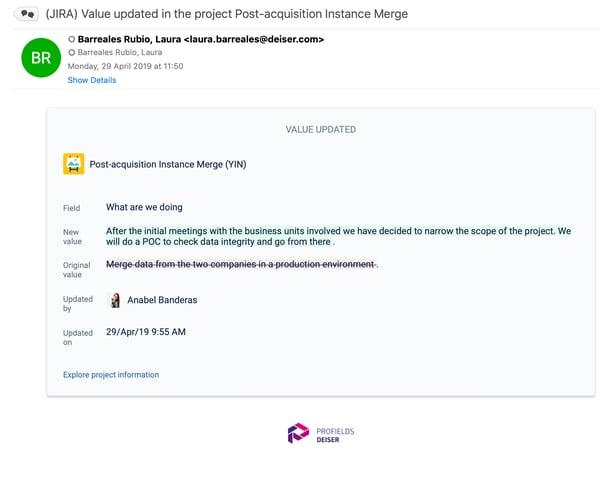 Watch projects in Jira with profields, an Atlassian app