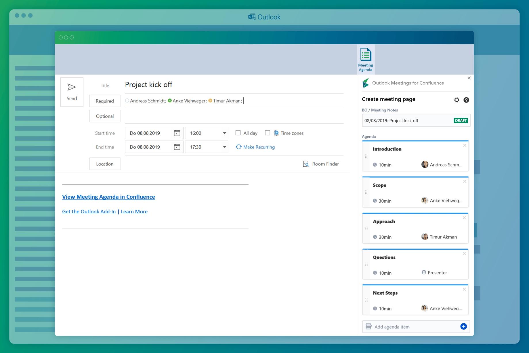 Cómo crear hitos en el calendario de Confluence desde Microsoft Outlook.