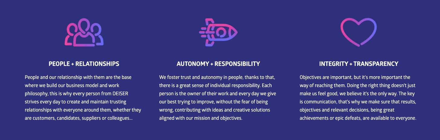 DEISER company culture core values