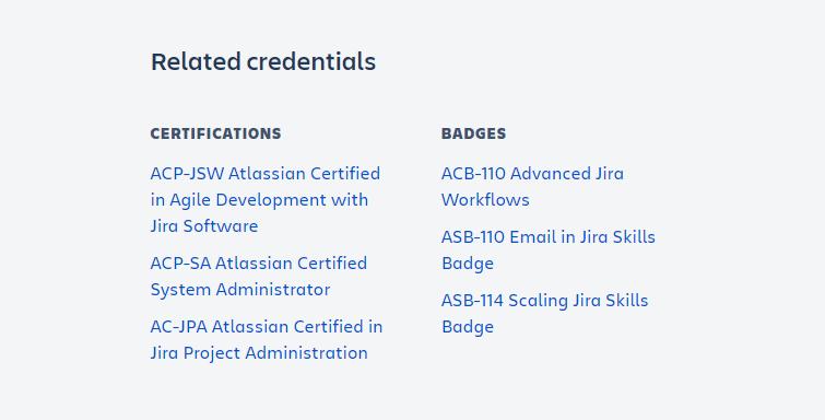 Certificaciones relacionadas a la Administración de Jira