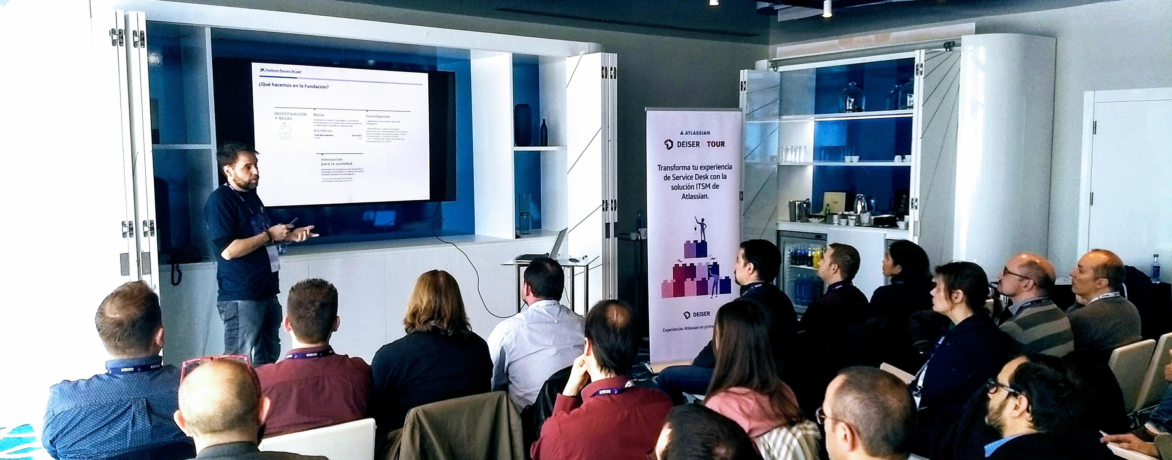 """Aitor Wehrli explica la implementación de Jira Service Desk en la Fundación Bancaria """"la Caixa"""""""
