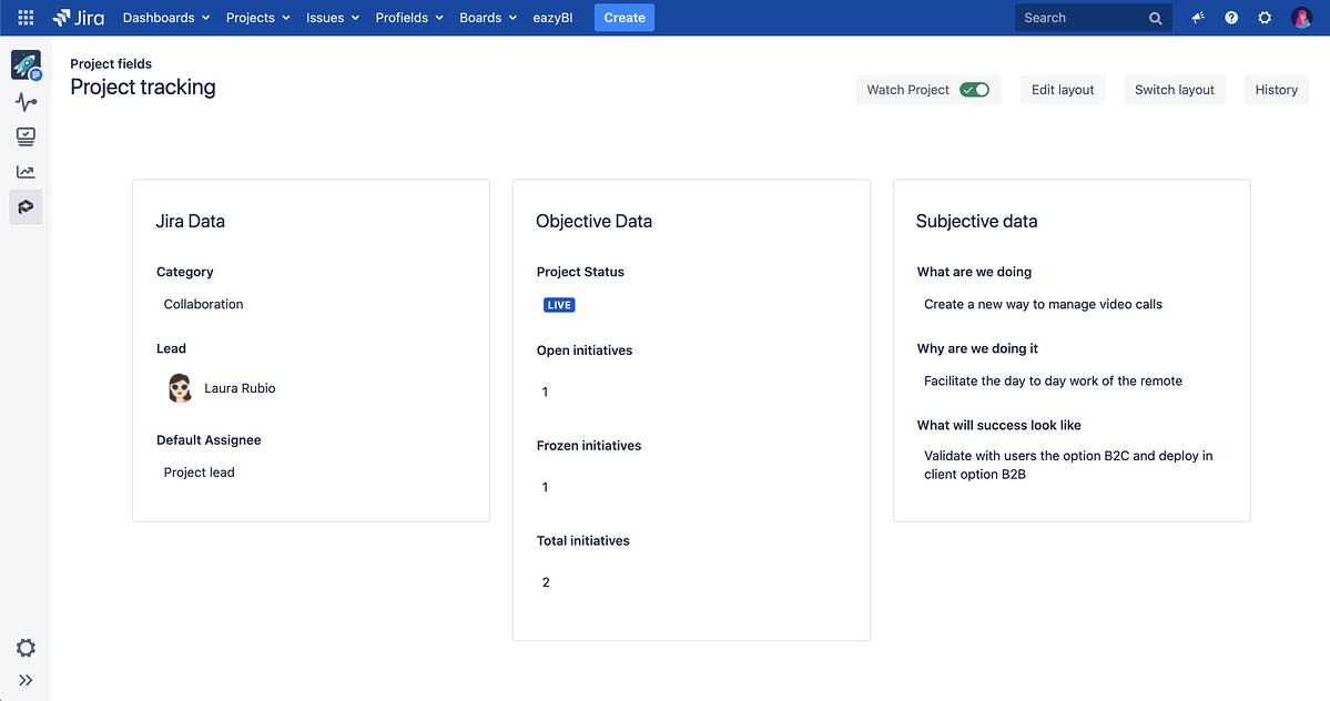 How to organize data in Jira with Profields: objective and subjective data