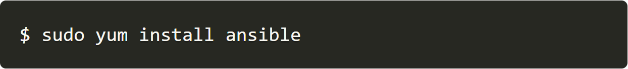 sudo yum install ansible-1